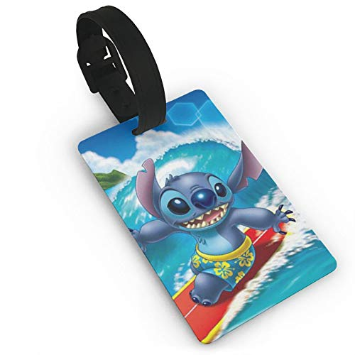 DNBCJJ Luggage Tags for Suitcases Stitch Luggage Tag,with Name ID Suitcase Women Men's Children's Travel Accessories