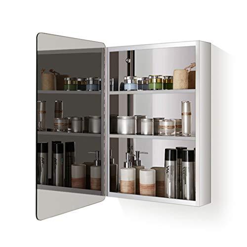 Gabinetes con Espejo Armario con Espejo para El Baño con Puerta De Acero Inoxidable para Maquillaje De Habitaciones, Puertas Izquierda Y Derecha