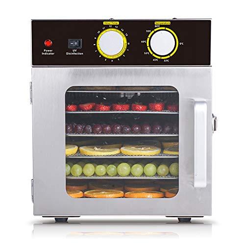 SHIJING 6-Schicht-Edelstahl-Trockenfrüchte-Maschine Haushalt Lebensmittel Trockner Obst und Gemüse Heimtierfleisch Lebensmittel Dehydrationstrockner