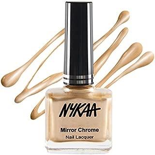 Nykaa Mirror Chrome Nail Lacquer - Sun-Kissed Gold (Shade No.166) (9ml)