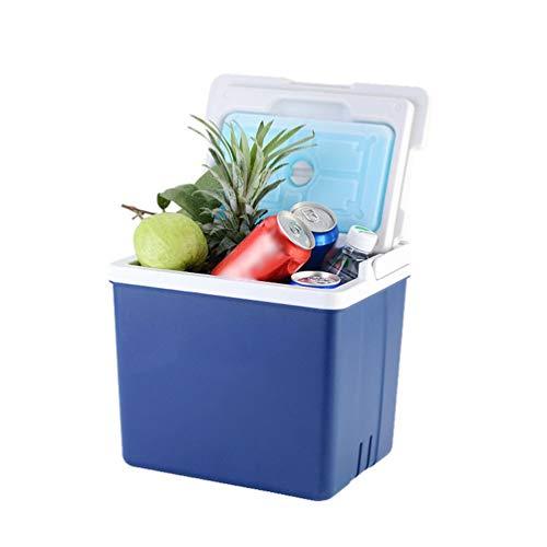 MLAH 10L Réfrigérateur De Voiture en Plein Air Petit Incubateur Portable De Voiture Accueil Cosmétiques De Stockage Sauvage Barbecue Boîte De Rangement,Bleu