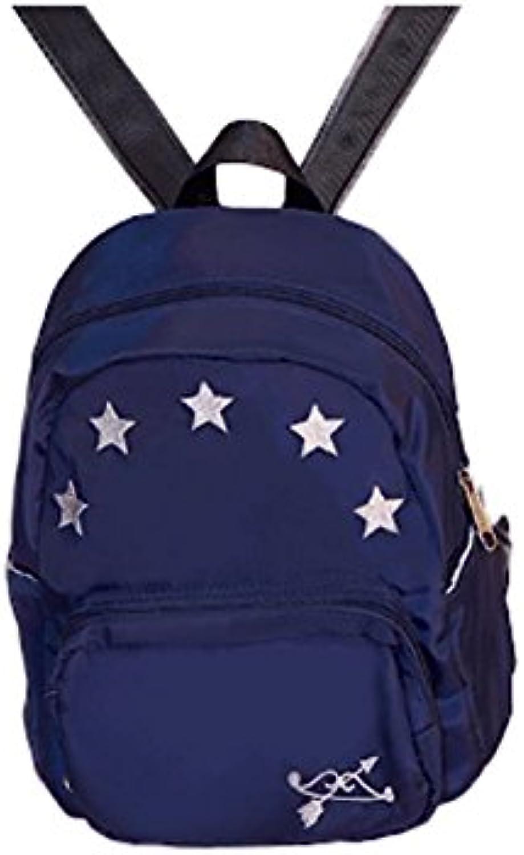 Unbekannt Rucksack - Süße Student Bag Female Schultertasche High Capacity Casual Reisen Rucksack (Farbe   Blau) B07F1GWQ2G  Nutzen Sie Materialien voll aus