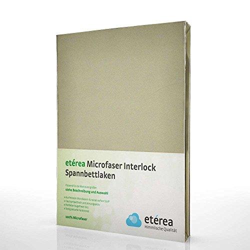 etérea Interlock Mikrofaser Spannbettlaken - alle Größen und viele Farben - Stucco Beige, 100x200-120x200 cm