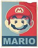 Coobal Super Mario Bros Super Mario Bros Hope Style Fleece Blanket Throw Size Reversible Blanket All Season Use Sofa Blanket Summer 60 x 50 inch