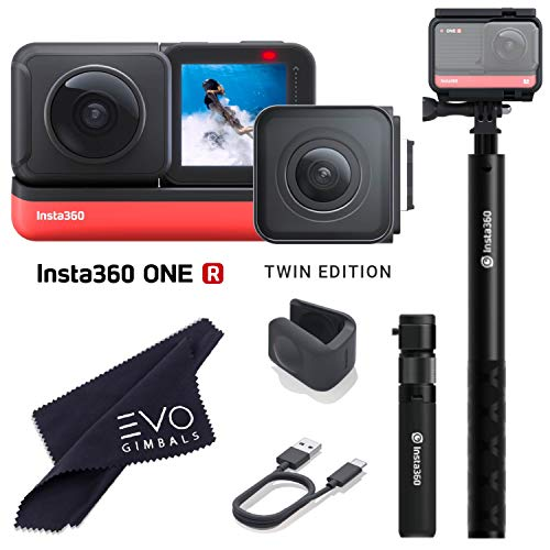 Insta360 ONE R Twin Edition - Super 5.7K Dual-Lens 360 Camera + 4K Wide Angle 60FPS with Bullet Time Kit (2 Items No Card)