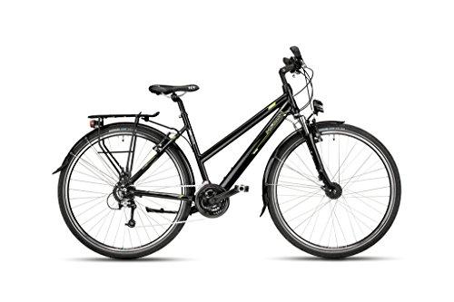 Hawk Bikes Green Trekking Lady Damesfiets, trekkingfiets, aluminium frame met 24 Shimano-versnellingen en naafdynamo