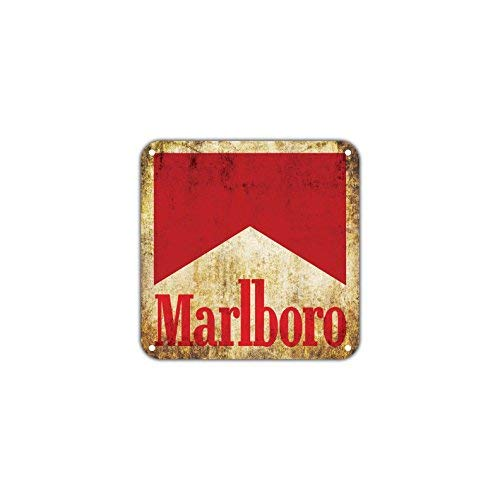 HSSS Marlboro Cigarrillos Tabaco Humo-Racing Vintage Retro Metal Decor Art Shop Man Cave Bar Aluminio 30,48 x 30,48 cm Sign