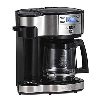 Hamilton Beach  49980A  Single Serve Coffee Maker and Coffee Pot Maker Programmable Black/Stainless Steel  Renewed