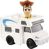Mattel Disney Toy Story 4 Minifigura de Woody y autocaravana, Juguetes Niños +3 Años (GCY61)