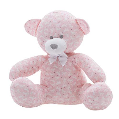 Urso Estampado, Zip, Rosa Bebê