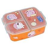 Stor Peppa Pig | Sandwichera con 3 Compartimentos para niños - lonchera Infantil - Porta merienda - Fiambrera Decorada
