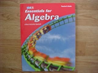 Essentials for Algebra: Teacher's Guide (Distar Arithmetic Series) by Siegfried Engelmann (2007-08-01)