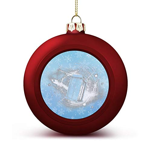 Tardis in Space Men's Tank Top Who Dalek Dr Police Doktor Time Travel Custom Christmas Ball Ornaments with Lanyard Beautifully Decorated Christmas Ball Gadgets for Holiday Party Decoration Xmas Tree H