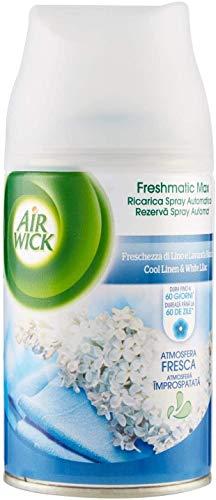 Air Wick Fresh MATIC - Ricarica Spray Automatico, Freschezza di Lino e Lavanda - 6 Pezzi da 250 ml [Totale 1500 ml]