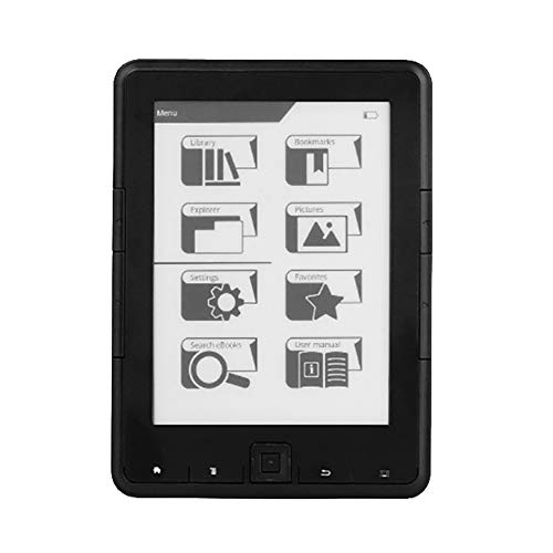 Nrpfell Lettore Ebook Ink 6 Pollici Risoluzione E-Ink 800X600 4 EBook Reader E-Ink Ereader (4G)