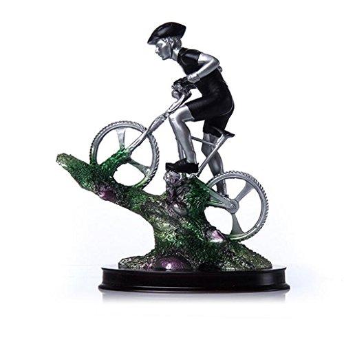 PLDDY sculture Trofeo dell'atleta di Ciclismo Scultura in Resina Artigianale, 12 * 24 cm (Colore : B)