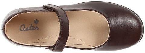 Aster Kids Girl's Dana (Toddler/Little Kid/Big Kid) Brown Leather Flat 26 (US 9 Toddler) M