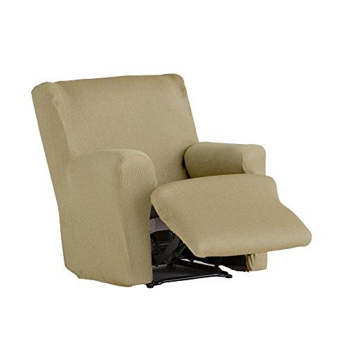 Eysa - Funda de sillón pies Juntos elástica Ulises - Color Tostado