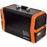 Portable Power Station 1000W, 1010Wh Portable Solar Generator Lithium Battery Backup Power Inverter with 2 220V AC Outlet, 2 DC, 4 USB for Home and Outdoor Camping Emergency,Black