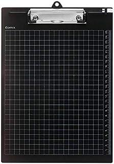 لوح اختبار بمساك مسطر طولي مقاس A4  لون اسود من كوميكس A724