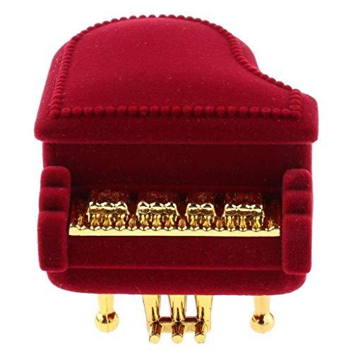 XZJJZ Joyero- Velvet Piano Ring Box Pendiente Colgante Jewelry Treasure Wedding Gift