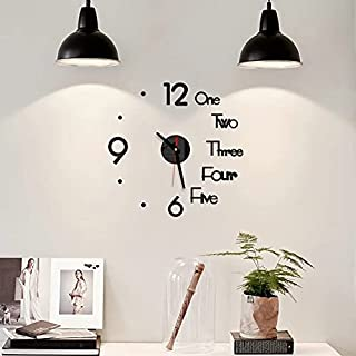Relógio de Parede 3D Design Moderno Criativo Quartzo