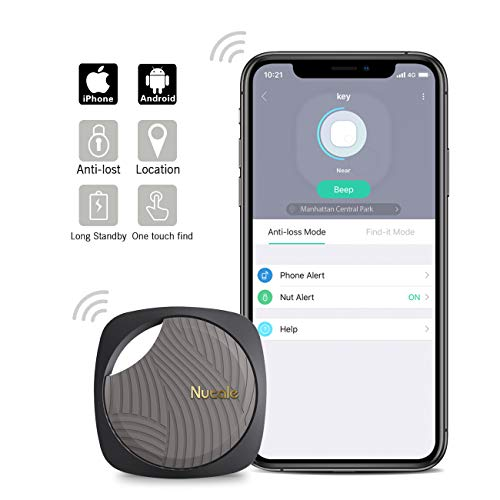 Nutale Focus Bluetooth Key Finder Smart Tracker – Kids, Pet, Dog, Car Key, Wallet Tracker with Phone App – Key Locator Tracking Device with Anti-Lost Alarm Reminder, 150 ft. Range (Black, 1 Pack)