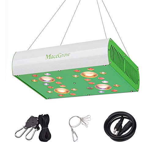 Led Grow Light-MG900 Grow Lamps for Greenhouse Hydroponic Indoor Plants Growing Veg and Flower Lighting Fixture with Full Spectrum COB and CREE/OSRAM Led Chips
