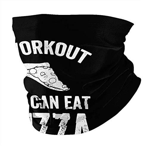 N/W I Workout So I Can Eat Pizza Mascarilla facial reutilizable para protección de verano para cuello, bufanda de cabeza