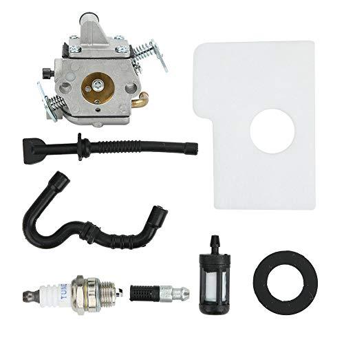 Carburador de motosierra Kit de filtro de carburador Accesorio de motosierra Kit de junta de filtro de carburador apto para STIHL MS170 MS180 017 018 Accesorio de pieza de motosierra