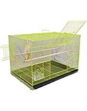AVI CRAVE Bird cage for Birds,Parrot,Finches,Love Birds, with 2 Perch Stick,Cuttlefish Bone Holder,with Cuttlefish Bone,2 gate to Install breeding Box,Anti Bird Escape Lock