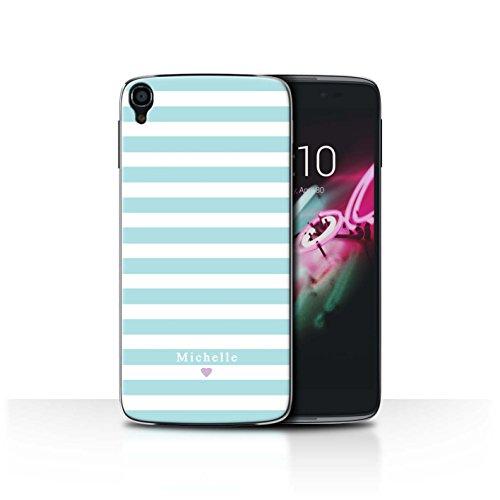 Stuff4Phone Case/Cover/Skin/alcidl355/Custom Stripes/Striped Collection Coeur Rayure Bleu