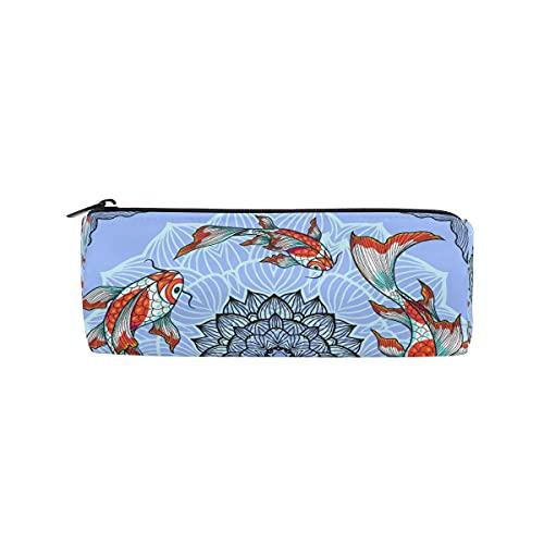 HaJie - Estuche para lápices con diseño de mandala japonés, diseño floral con cremallera, para niñas, niños, mujeres y hombres