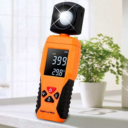 QWERTOUR Digitale Luxmeter Light Meter Lux Meter Luminometer Photometrie Lux/FC Temperaturtester Spectrometer Spektralphotometer