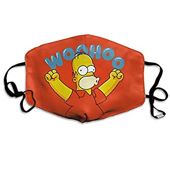 Homer Simpson Woohoo Reusable Face Nose Mouth Cover with Adjustable Earloops Dust Mouth for Kids Women Men