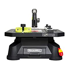 [SETS UP IN SECONDS] Take this table saw to the job site or move it around the workshop. There's even a built-in carry handle [CUTS LIKE A FULL-SIZE] With the standard guard and riving knife system you can perform rip, cross, scroll, and miter cuts [...