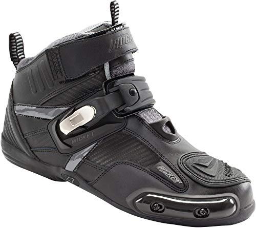 Joe Rocket Atomic Men's Motorcycle Riding Boots/Shoes (Black/Grey, Size 7)