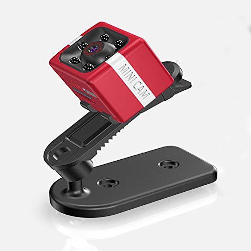 JHWX Kompaktkamera, HD, Nachtsicht, Infrarot, Bewegungserkennung, lange Akkulaufzeit, Fotografie mit nur einem Knopf, Weitwinkel-Überwachung, Sportkamera DV Multifunktion Rot
