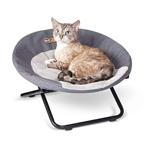 K&H PET PRODUCTS Elevated Cozy Cot Classy Gray Small 20 Inches