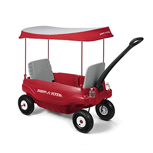 Radio Flyer Deluxe All-Terrain Family Wagon Ride On, Red