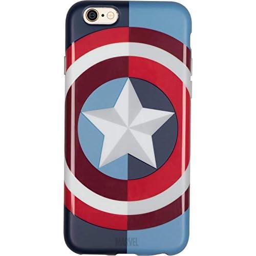 Marvel Custodia iPhone 7/8 in TPU i Cover Cellulare i Protezione 4 Lati e Posteriore - Captain America, Tribe Cai31601