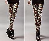 bayrick Celebridad de Internet Mismo Estilo,Primavera y Verano Nueve Nueve Puntos Pantalones de Yoga Personalidad Femenina Leggings de Camuflaje-B_Código