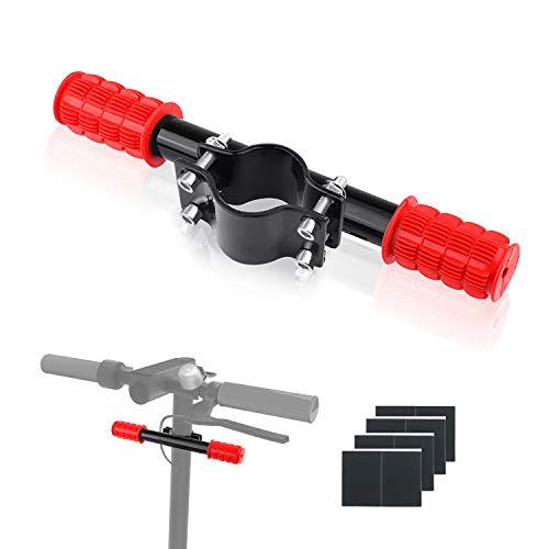 Ajustable Barra de Agarre para Niños, Manillar para Patinete Eléctrico,Aleación de Aluminio Extensor Soporte de Faro GPS para Xiaomi M365/pro (Rojo)