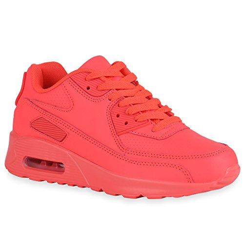 Damen Herren Unisex Sport Glitzer Metallic Lack Prints Zipper Neon Lauf Runners Trainers Übergrößen Schuhe 140389 Neonrot 37 Flandell