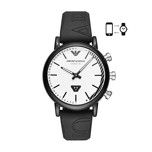 Emporio Armani Reloj Analógico para Hombre de Cuarzo con Correa en Silicona ART3022