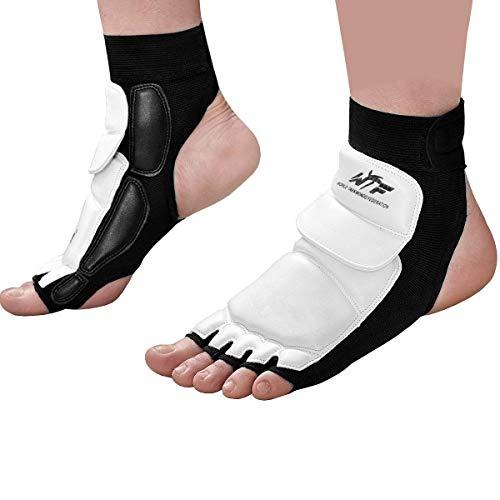 Evaliana Taekwondo Foot Protector Gear Martial Arts Fight, White, Size Large