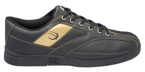 BSI Men's 571 Bowling Shoe, Black/Gold, Size 10