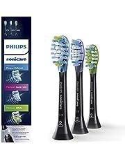 Philips Sonicare Original Aufsteckbürste Premium Vielfaltspack HX9073/33, für jedes Bedürfnis, RFID-Chip, 3er Pack, Standard, Schwarz