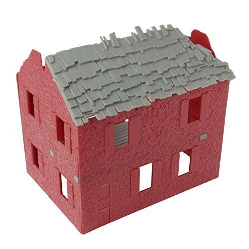 BMC WW2 Bombed French Farm House - Barn Red Plastic Army Men Playset Accessory