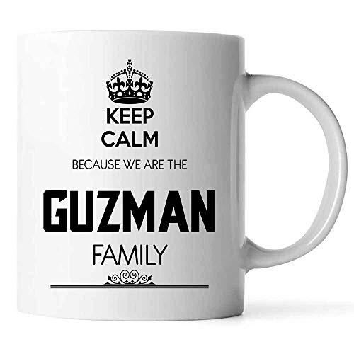 Keep Calm We Are The Guzman Family - Personalized Name Mugs Surname Mug Last Name Mug Coffee Mug For...